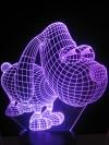originelle 3D LED-Lampe niedlicher Hund Mehrfarben-Leuchte Kinderzimmerlampe Tischlampe Farbwechsel Nachtlicht