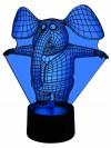 originelle 3D LED-Lampe Dumbo der Elefant als  Mehrfarbenlicht Kinderzimmerlampe