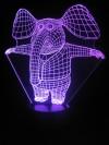 originelle 3D LED-Lampe lustiger Elefant