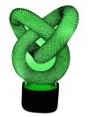 originelle 3D LED-Lampe Designerlampe Stimmungslicht Wohnlicht Motivlampe Endlosschlange