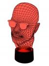 originelle 3D LED Designerlampe Wohnlicht Tischlampe Tischleuchte Mehrfarben-Licht Motiv-Lampe