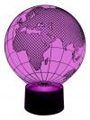 originelle 3D LED-Lampe Deko-Leuchte Globetrotter Weltkugel Nachttischlampe Wohnlicht Nachtlicht