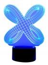 Originelle 3D LED Designerlampe Krake