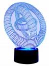 originelle 3D LED-Lampe Designerlampe Stimmungslicht Wohnlicht Motivlampe Magischer Kreis