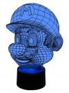 3D LED-Lampe Farbwechsellicht Online Gamer Wohnlicht Nacht-Tischlampe Kinderzimmer-Lampen