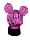 originelle 3D LED-Lampe Mickey Mouse niedliche Kinder-Tischlampe Nachttischlampe Tischleuchte Motivlampe