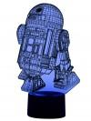 originelle LED 3D-Lampe R2D2  Droide Tischlampe Tischleuchte Farbwechsel Wohnlicht Show-Effekt Kinderzimmer