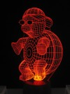 originelle 3D LED-Lampe Kinderzimmer Tischlampe Kinderzimmerlampe Wohnlicht Nachttischlampe Farbwechsel Motivlampe Turtle
