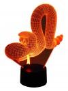 originelle 3D LED-Lampe Kinderzimmer Tischlampe Kinderzimmerlampe Wohnlicht Nachttischlampe Farbwechsel Motivlampe lustige Schlange