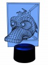 originelle 3D LED-Lampe lustige Ente  Kinderzimmerlampe Nachttischlampe Tischlampe Mehrfarben-Licht Motivlampe