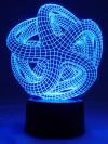 Originelle 3D LED-Lampe Seestern