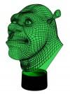 originelle 3D LED-Lampe Shrek Kinder-Leuchte Tischlampe Nachttischlampe Tischleuchte Wohnlicht Kinderzimmer