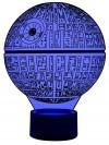 originelle 3D LED-Lampe Todesstern Tischlampe Mehrfarben Wohnlicht Tischlampe Tischleuchte Kinderzimmerlampe