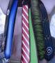 Viele LED Krawatten für Fun und Business