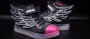 LED Flügel Schuhe Schwarz  (Damen Mädchen)
