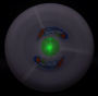 geniale LED Frisbee Grün